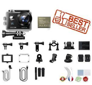 caméra d'action  D4UQ 4K 12mp 30M étanche EIS Wifi écran tactile Télécommande