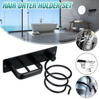 Aluminum Hair Dryer Holder Rack Hair Straightener Shelf Storage Hook