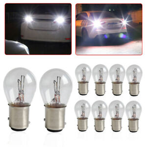 10x White 1157 Brake Stop Turn Signal Reverse Bulbs Car Dome Light Tail Lamp S25