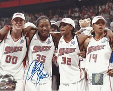 CHERYL FORD AUTOGRAPHED WNBA PHOTO AUTHENTIC WITH RILEY CASH NOLAN DETROIT SHOCK