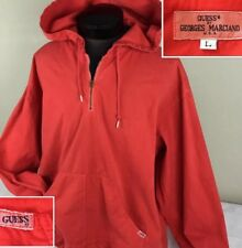 Vintage GUESS Georges Marciano Jacket Hooded Pullover Windbreaker 80's L RARE