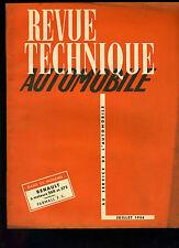 (C11)REVUE TECHNIQUE AUTOMOBILE RENAULT Moteurs 568 et 572 / TRACTEUR FARMALL FC