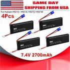 4Pcs 7.4V 2700mAh 10C Lipo Battery for Hubsan H501S RC Quad Drone # H501S-14