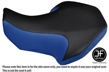 BLACK AND ROYAL BLUE VINYL CUSTOM FITS SUZUKI LT 80 1987-2005 SEAT COVER ONLY