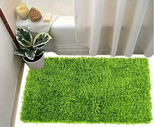 """16""""X24""""Soft In Touch Bath Mats Made Of Microfiber(Green,1Pc) For Home & Office"""