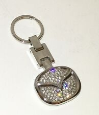 Mazda KEY CHAIN STAINLESS STEEL Front & Back WITH SWAROVSKI CRYSTALS