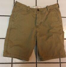 HOLLISTER shorts Mens 32 x 10 Khaki tan Casual Bermuda flat front