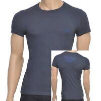 Emporio Armani Eagle Stretch Cotton Crew Neck T-Shirt, Charcoal