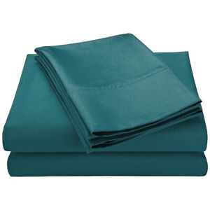400TC Egyptian Cotton SHEET SET Custom Extra Deep Pocket Percale Teal