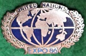 EXPO 86 UNITED NATIONS Pavilion Lapel Pin Near Mint Vancouver B.C. Canada