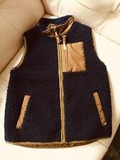 Boys J.Crew Kids  Sharpa Fleece Navy Blue Vest size 10