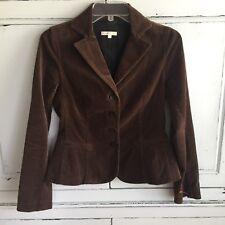 VINCE. Brown Velvet Blazer Jacket 4 Button Size 4 100% Cotton Chocolate Lined