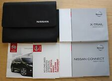 NISSAN X-TRAIL HANDBOOK CONNECT NAVI OWNERS MANUAL WALLET 2014-2017 PACK 10596