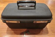 Samsonite Black Hard Shell Vanity Travel Make Up Case Mirror Key Lock Lockable