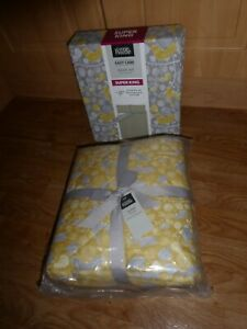 BIRD AND LEAF DESIGN Duvet Set Cover SUPER KING SIZE Bedding & QUILTED THROW NEW
