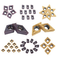10pcs CNC Carbide Tips Inserts Blade Cutter Lathe Turning Tool + Box Set Durable