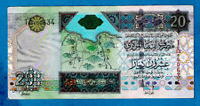 "Libya P67b 20 Dinars ""Oau Commemorative Issue"" Sign F O Bengdara 2002 Xf/Au Rare"