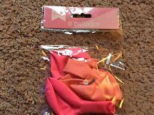 BNIP New Pack of 6 Unicorn & Rainbow Pink Balloons