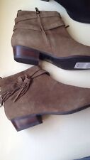 Marks & Spencer M&S Brown Ankle Boots Suede Style Size 4.5 Uk