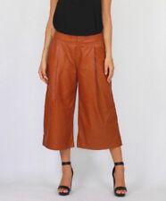 Wide Leg Faux Leather Pants for Women