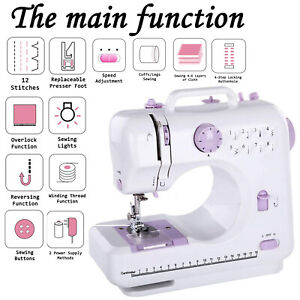 Electric Sewing Machine Multi-Function Portable Hand held Desktop 12 Stitches