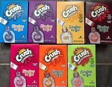 Crush -Orange - Grape - Strawberry - Cherry Limeade & More Flavored Single to Go