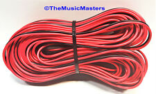 22 Gauge 100' ft SPEAKER WIRE Red Black Cable Car Audio Home Stereo 12V DC Power