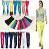 New Skinny Womens Jeans Stretchy Jeggings Ladies Fit Coloured Trousers Size 8 26