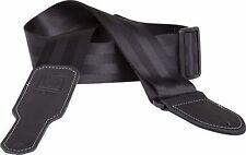 "Boss 2"" Nylon Seatbelt Guitar Strap - Black"