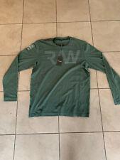Mens G Star Long Sleeve T Shirt Green Size Xxl