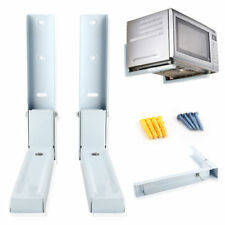 Microwave White Wall Mounting Holder Brackets With Extendable Arms