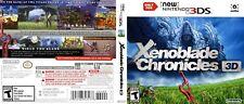 Xenoblade Chronicles 3D Nintendo 3DS Reproduction Cover Art Work No Game, No Box