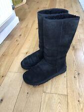 Genuine UGG Australia Classic Tall Boots Womens Black UK Size 5.5 W7