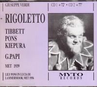 Verdi: Rigoletto / Päpste, Tibbett, Pons, Kiepura Met 1939 - CD Myto