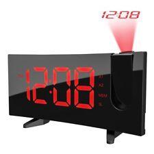 Alarm clock Projector Pictek Radio FM Screen LED 4 Shine Adjustable Dual