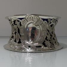 19th Century Britannia Silver Antique Victorian Irish Dish Ring Dublin 1899
