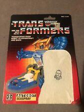 Transformers Vintage G1 Minibot Seaspray Cardback Tech Spec