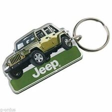 BRAND NEW GREEN JEEP WRANGLER UNLIMITED LASER CUT KEY CHAIN!