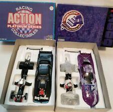 Action NHRA Funny Cars lot of 2 Jim Epler 1:24 scale the under taker rug doctor