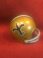 Riddell pocket pro football helmet NFL New Orleans Saints two-bar