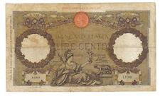 100 lire roma guerriera fascio roma 18 08 1936 rara prima imperiale lotto.1639