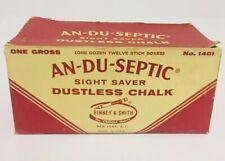 Vintage An Du Septic Chalk Binney Smith Sight Saver Dustless 1401 Crayola Box