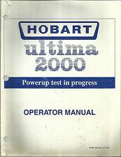 Hobart sp1500 user manual.