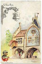 publicité MAGASINS BON MARCHé.MAISON A.BOUCICAUT.le vieux PARIS.Signé.