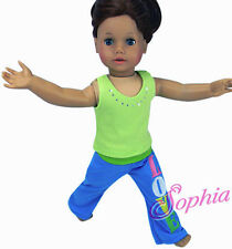 """Last ONE! Yoga Pants + Tank Top for 18"""" American Girl Doll Clothes"""