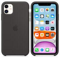 """Apple iPhone 11 Genuine Original 6,1"""" Silicone Cover Case - Black"""