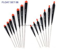 Premier stick floats alloy stemmed set of 14  river/chub/roach/dace fishing