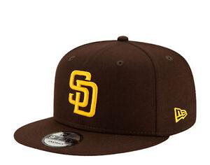 New Era 9Fifty MLB San Diego Padres Brown/Yellow Basic Snapback Hat 12351317
