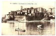 CPA Corse Bastia La Citadelle et la Vieille Ville animé bateaux