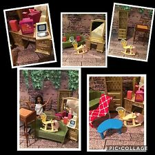 BARBIE,doll,BARBIE'S YARD-SALE !OOAK,DIORAMA,couch,desk,dresser,furniture,chair